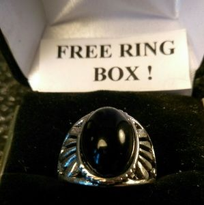 Other - Tibet Silver Ring -Natural Gemstone -Sz 8